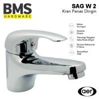 AER Kran Wastafel Panas Dingin / Mixer Basin Faucet Hot & Cold SAG-W2