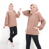 Baju Atasan Wanita Bloomy Blouse Tunik Baju Muslim