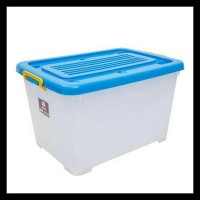 SHINPO 116 CONTAINER MEGA BOX PLASTIK CB 130 LITER DENGAN RODA (BY
