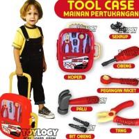 Kecestorian Mainan Anak Laki Tool Case Play Set Alat Tukang Palu Koper
