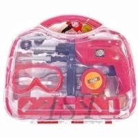 Narikalshop Tools Set Koper Merah Mainan Anak Alat Tukang Sni