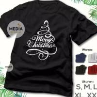 KAOS BAJU NATAL MERRY CHRISTMAS TREE - KAOS FAMILY ROHANI KRISTEN XMAS
