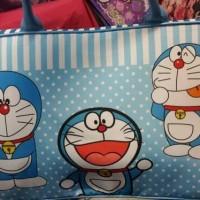 Terlaris Tas Travel Bag Koper Kanvas Renang Kotak Anak Dewasa Doraemon