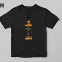 Kaos Baju T Shirt Distro Jack Daniels Bottle X9763