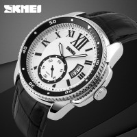 SKMEI 1135 ORIGINAL SILVER Jam Tangan Pria Casual Anti Air 30M