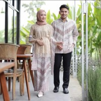 SIMIFASHION couple kebaya set dan kemeja batik bahan tille bordir