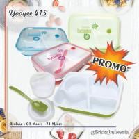 LUNCH BOX YOOYEE 415 GREEN PINK - Merah Muda - Hijau