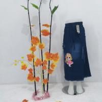 PROMO ROK Jeans Rawis LOL LED | Rok Panjang Anak Perempuan | Bawahan