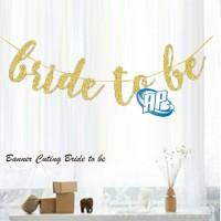 banner bride to be gold / bunting flag bridal shower / banner flag