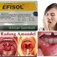 EFISOL Per Box isi 20 tablet hisap untuk Sariawan, Radang Tenggorokan