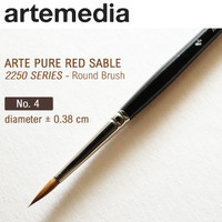 Arte Pure Red 2250 Sable Round Brush - 4