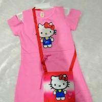 Dress Sabrina Sabrina hello Kitty dress anak premium dress anak import