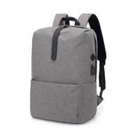 TR9 Tas Ransel Kanvas USB Charger Laptop Macbook Import
