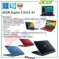 """ACER Aspire 3 A311 - N4000 4Gb 500Gb 11.6"""" Win 10"""