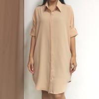 Tunik / Dress / Outer Polos Simple Kasual Daily - Krem Cream