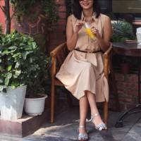 Dress Polos Simple Kasual Daily - Krem Cream