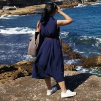 Dress Polos Simple Kasual Daily - Biru Tua Navy