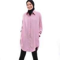 Tunik / Dress / Outer Polos Simple Kasual Daily - Ungu Muda Lavender
