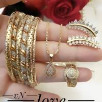 xuping set perhiasan lapis emas 24k 29m3