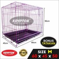 KANDANG BESI LIPAT 60 KUCING (60x45x50) Anjing Kelinci Tupai Musang