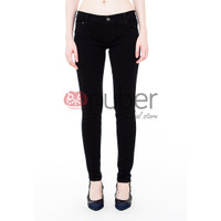 Celana Panjang Jeans Pensil Wanita Skinny HItam stretch Nuber-Dahlia