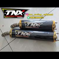 Silencer Knalpot Motif Carbon TNX Racing Not Ahm Yypang Tiga Pdk Cld