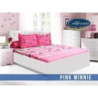 Sprei California King motif Pink Minnie uk.180x200 No.1