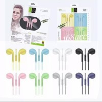 Handsfree Headset Earphone Stereo U19 U88 Extra Bass Warna Macaron