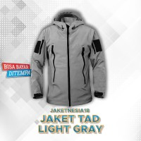 Jaket TAD TACTICAL 5 Varian Casual Windproof Outdoor Pria Wanita - Abu-abu, M