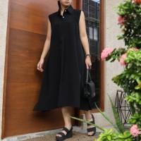 Dress Polos Simple Kasual Daily - Hitam Black