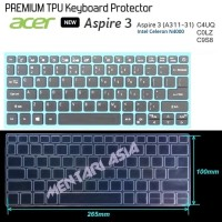 Keyboard Protector ACER NEW Aspire 3 A311-31 - PREMIUM TPU Clear