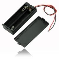 2x AAA Battery Holder Baterai Case Batere Box Kotak Batre dengan Tutup