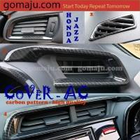 COVER CARBON BLACK PANEL AC HONDA JAZZ GK5 2014-2018 COVER AC JAZZ GK5