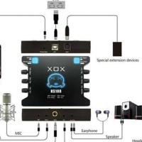 HOT SALE SOUND CARD EXTERNAL XOX KS108 ONLINE RECORDING SMULE KS 108