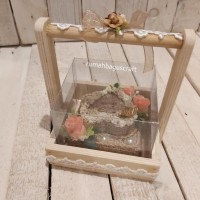 HOT SALE Kotak cincin nikah sudah di decor Rustic vintage TERJAMIN