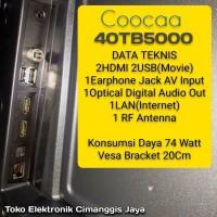SMART TV LED COOCAA 40 INCH DIGITAL