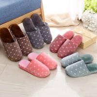 Sandal Selop Indoor/Rumah Bahan Katun Hangat Nyaman Anti Slip untuk