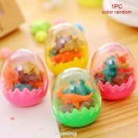 7pcs/set Eraser Rubber Dinosaur-egg Cute Kids Gift School Office