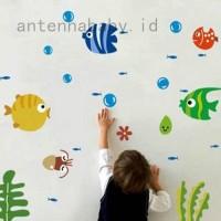 Cantik Funny Lovely Fish Bubble Wall Sticker Kids Room Nursery