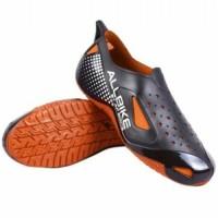 Sepatu ALL BIKE Orange Karet ALLBIKE Hitam Orange AP BOOTS .