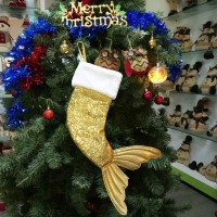 18 inch Kaos Kaki Gantung Motif Mermaid untuk Hadiah Natal