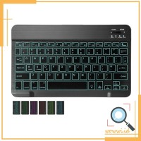 New Keyboard Wireless Bluetooth dgn Lampu Backlit