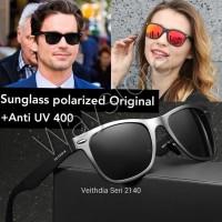 "Kacamata Sunglass Original Polarized Veithdia 2140 Pria Wanita """