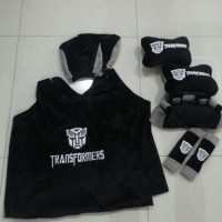 Bantal Mobil Exclusive 5 in 1 Transformers Hitam