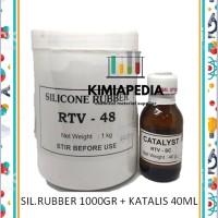Cetakan Silikon Karet Silicon Silicone Rubber RTV48 RTV 48 1Kg