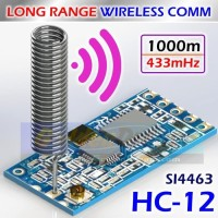 Long Range HC-12 Wireless Serial SI4463 433Mhz Transceiver HC12 Comm