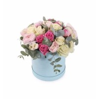 Premium Bloombox Roses Flower / Bunga Box Valentine