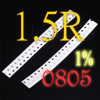 SMD 1.5R 1R5 1.5 Ohm Resistor 0805 1% SMT