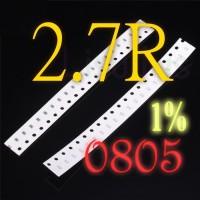 SMD 2.7R 2R7 2.7 Ohm Resistor 0805 1% SMT