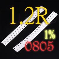 SMD 1.2R 1R2 1.2 Ohm Resistor 0805 1% SMT